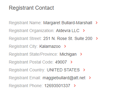 WHOIS History Search also allowed us to obtain the domain's previous registrant contact, who works with the company.