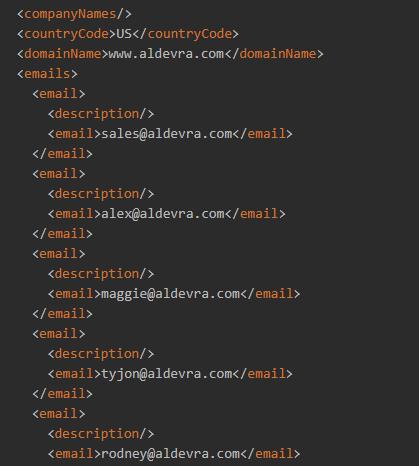 Website Contacts API