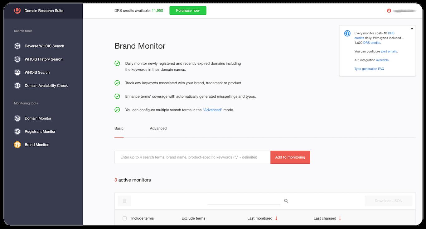 Brand monitor Web tool tutorial