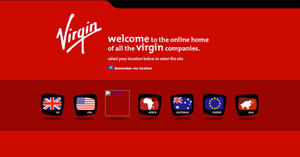 Virgin America Site in 2007