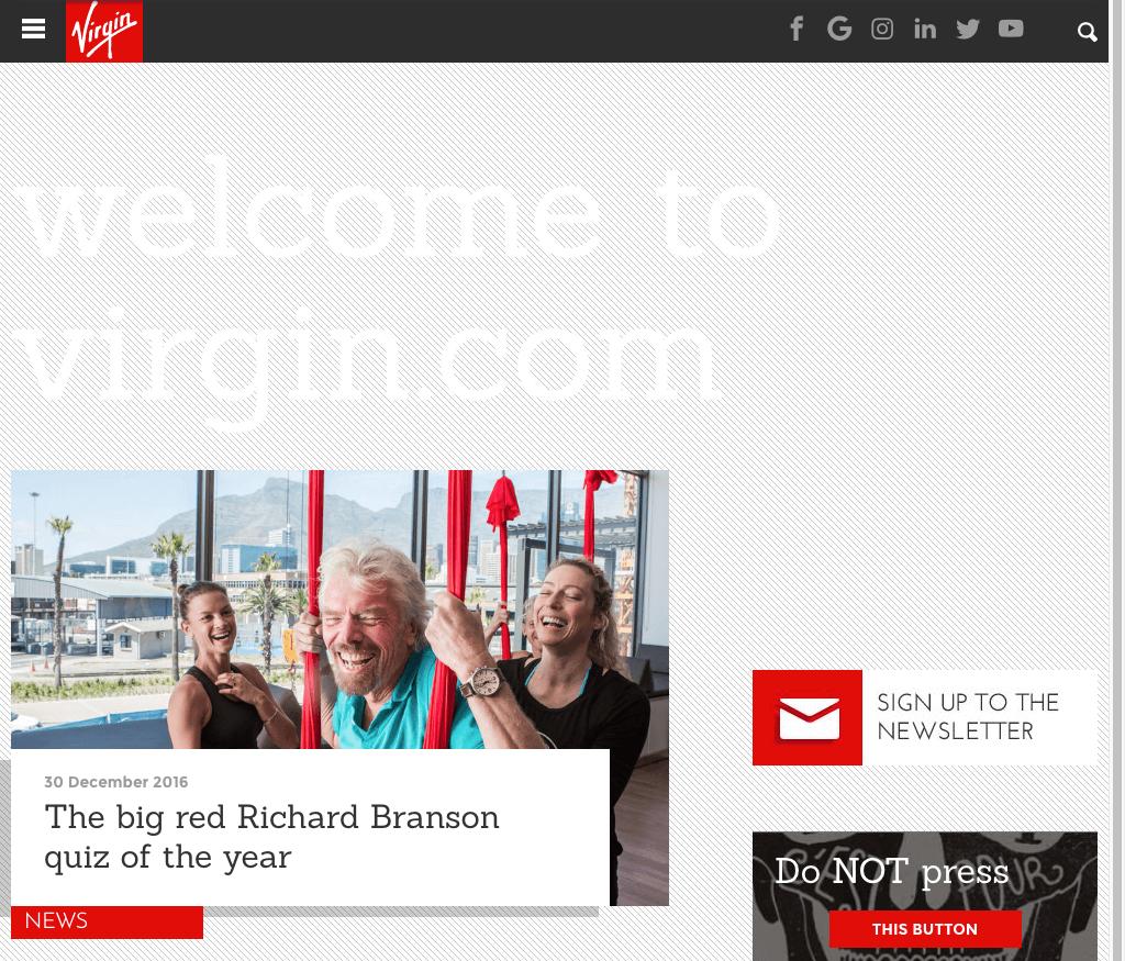 Virgin America Site in 2017