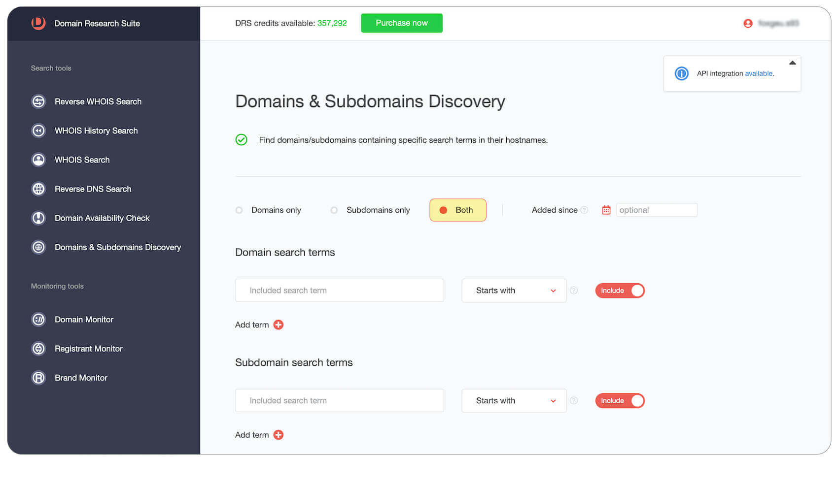 Both domains and subdomains example