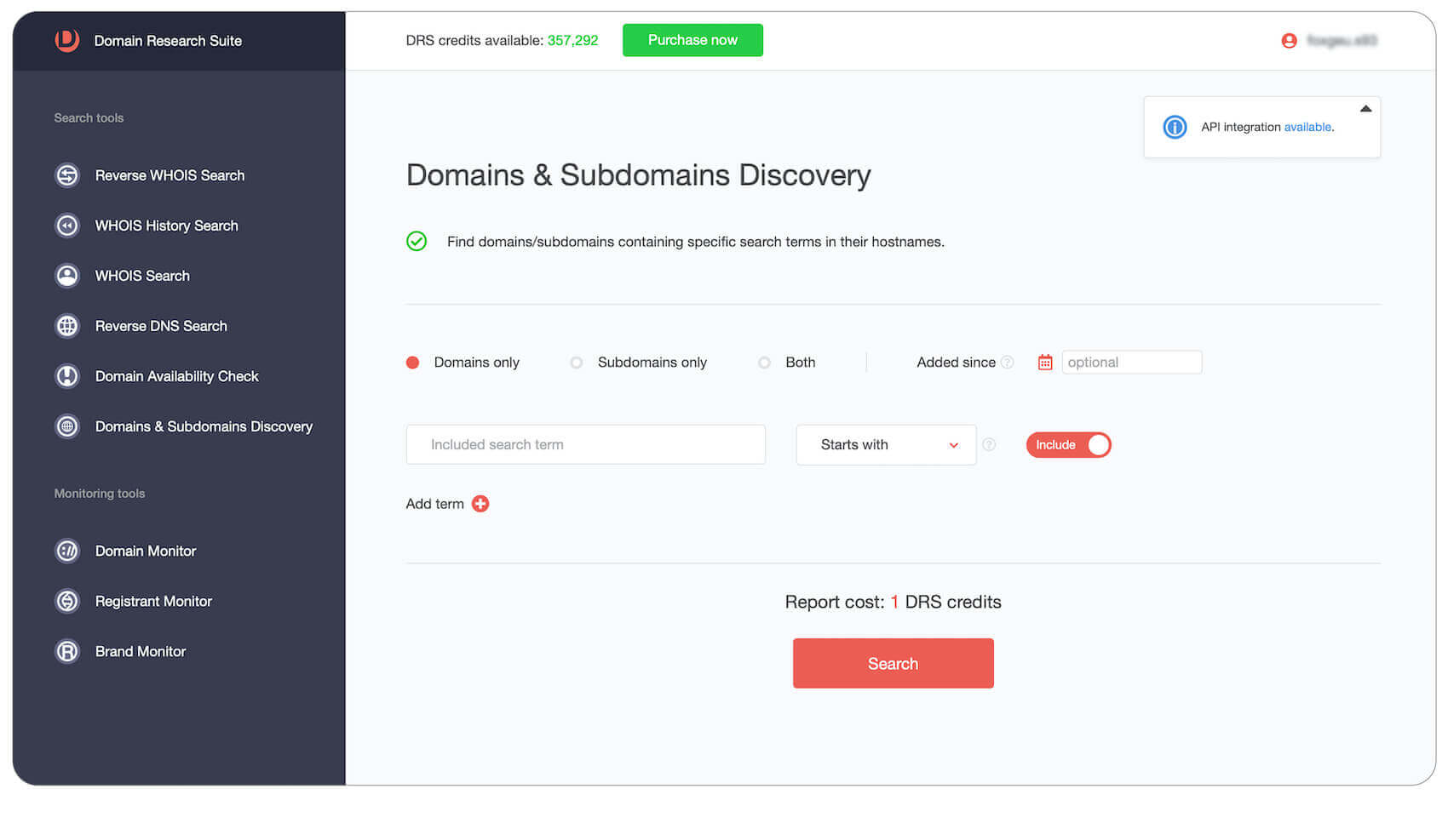 Domains & Subdomains Discovery web tool tutorial